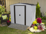Newburgh 6 x 5 ft. Coffee/Eggshell Steel Storage Shed