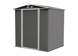 EZEE  6 x 5 ft. Charcoal/Cream Galvanized Low Gable Steel Storage Shed