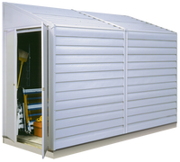Yardsaver 4 x 10 ft. Eggshell Pent Roof Steel Storage Shed