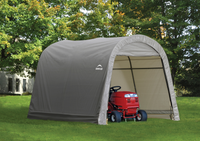 ShelterLogic 10 x 10 x 8 ft. Gray Roundtop Shed-in-a-Box