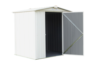 EZEE 6 x 5 ft. Cream Galvanized Low Gable Steel Storage Shed