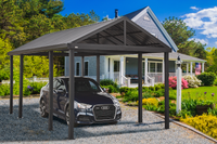 Sojag Samara 12 ft x 20 ft Dark Grey Carport
