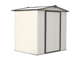 EZEE 6 x 5 ft. Cream/Charcoal Galvanized Low Gable Steel Storage Shed
