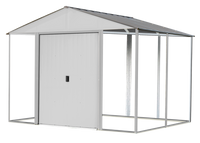 Ironwood 10 x 8 ft. Cream Galvanized Steel Hybrid Shed Kit