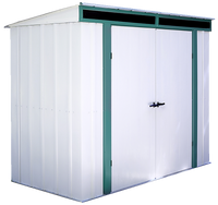 Euro-Lite 8 x 4 ft. Green/Eggshell Pent Roof Steel Storage Shed