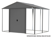 Ironwood  8 x 8 ft. Anthracite Galvanized Steel Hybrid Shed Kit