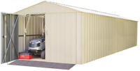Commander 10 x 30 ft. Steel Storage Building Eggshell