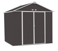 EZEE 8 x 7 ft. Charcoal/Cream Galvanized High Gable  Steel Storage Shed