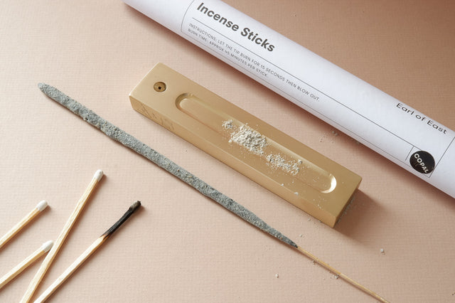 Swarf x Earl of East brass incense holder