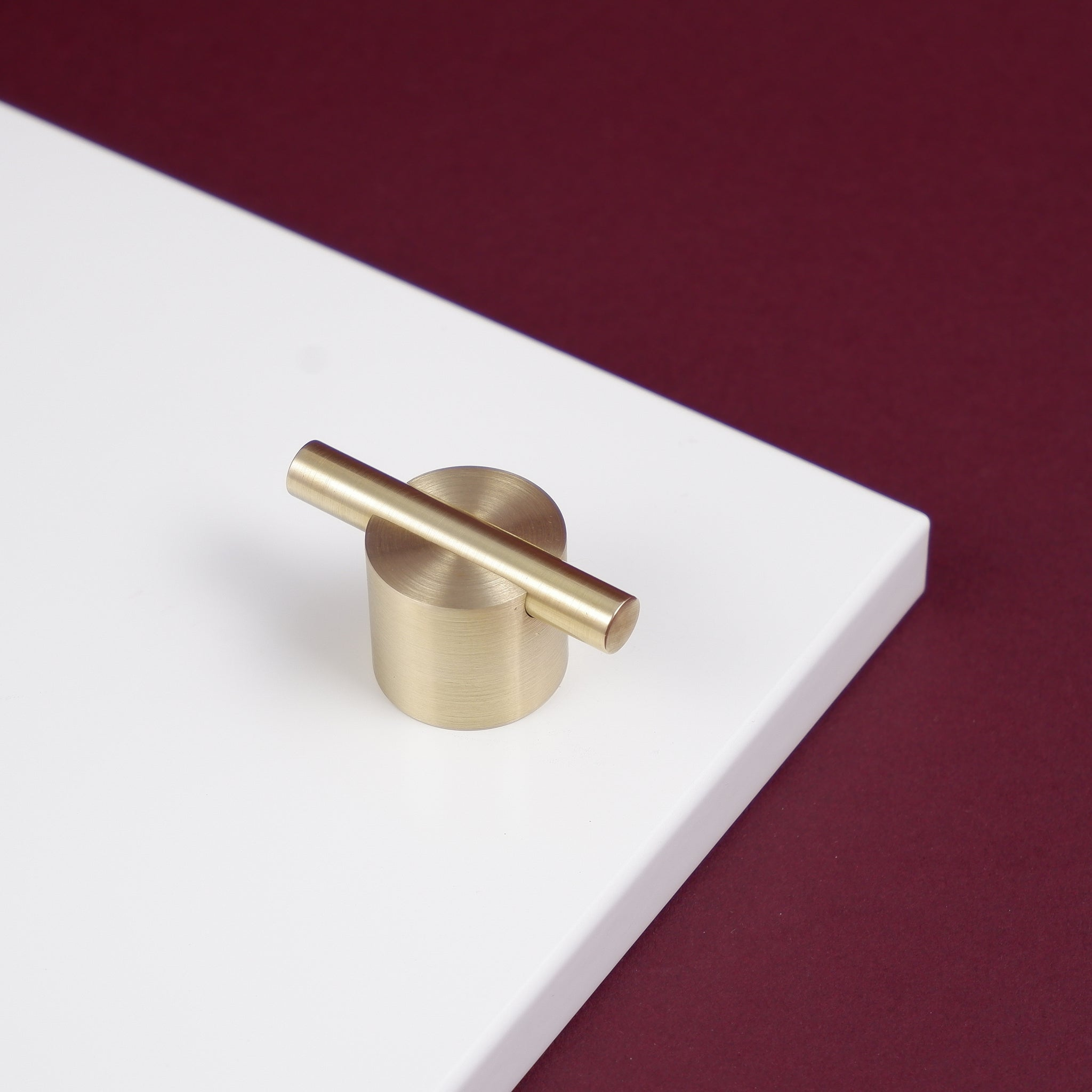 Chipmaster Brushed satin brass kitchen handle