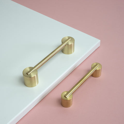 Myford brass handles small and large by swarf hardware