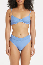 Signature Balconette Bracup Top - Sea Blue