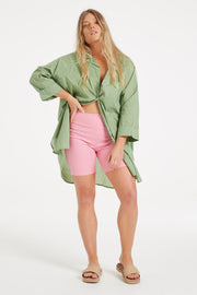 Classic Cover Up Shirt - Tallow Green