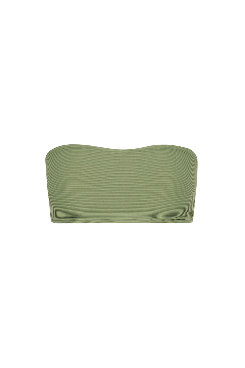 Signature Bandeau Top - Tallow Green