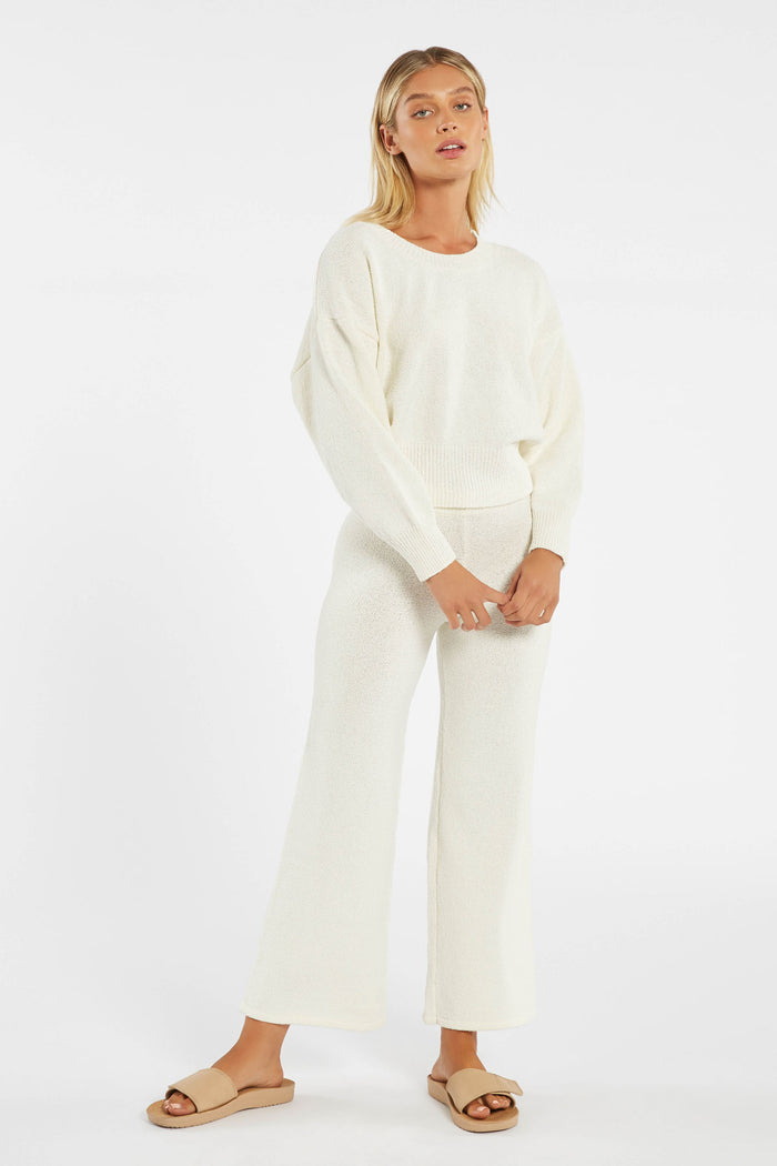 Whitewash Knit Pant - Warm White