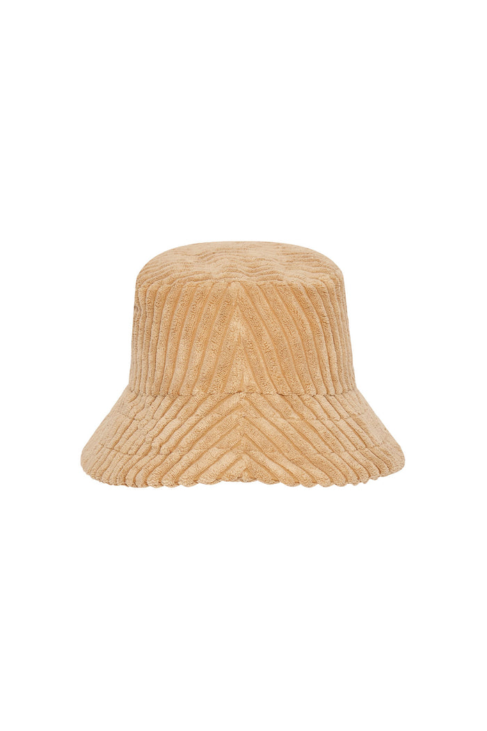 Cord Towelling Hat - Tan | PRE-ORDER OCTOBER