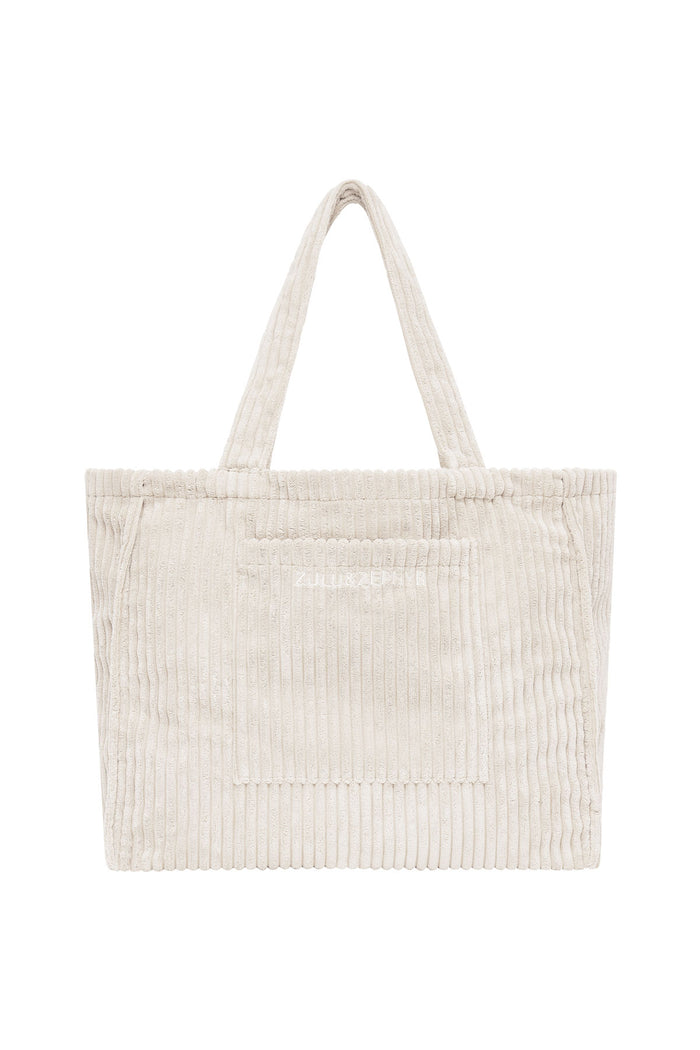 Cord Towelling Bag - Cream