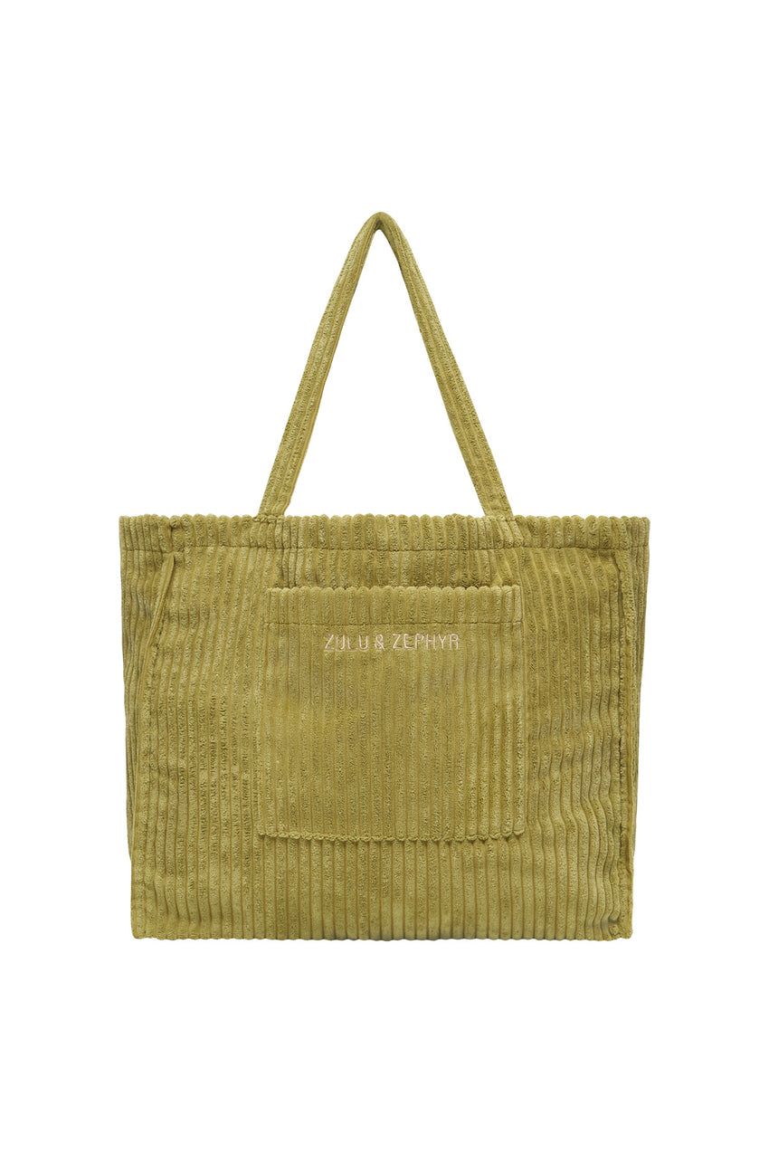 Cord Towelling Bag - Olive