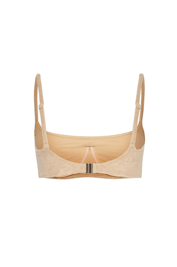 Towelling Bralette Top - Natural