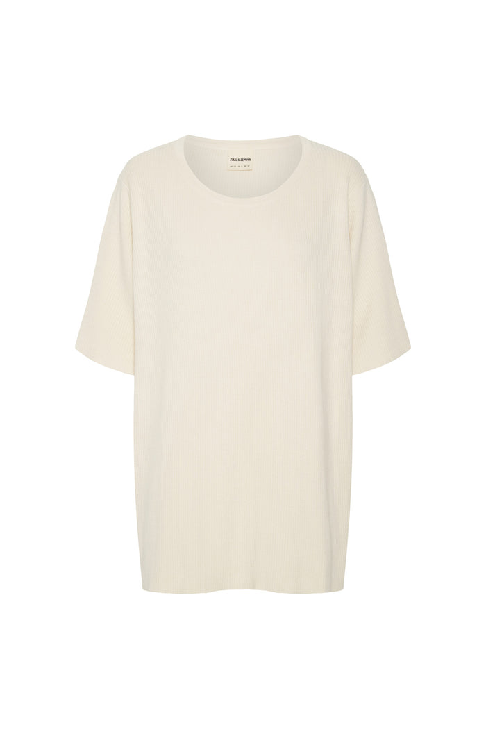 Signature Rib Knit Top - Warm White