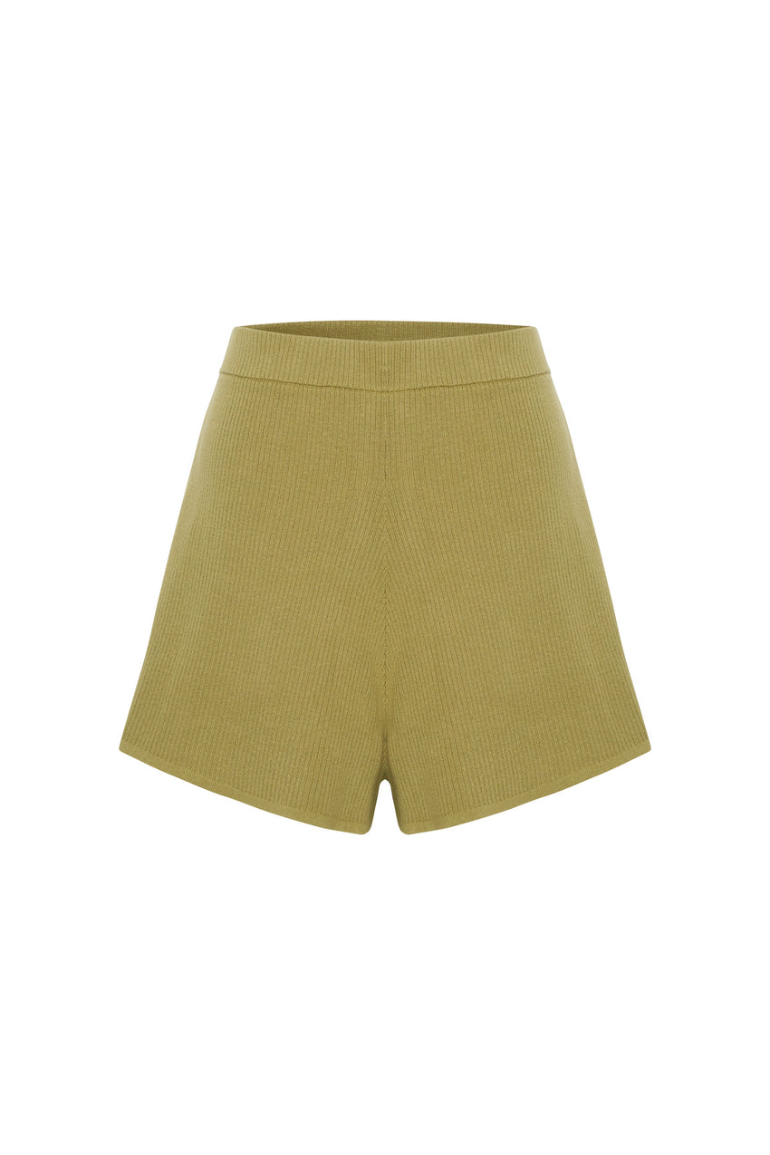 Signature Rib Knit Short - Olive