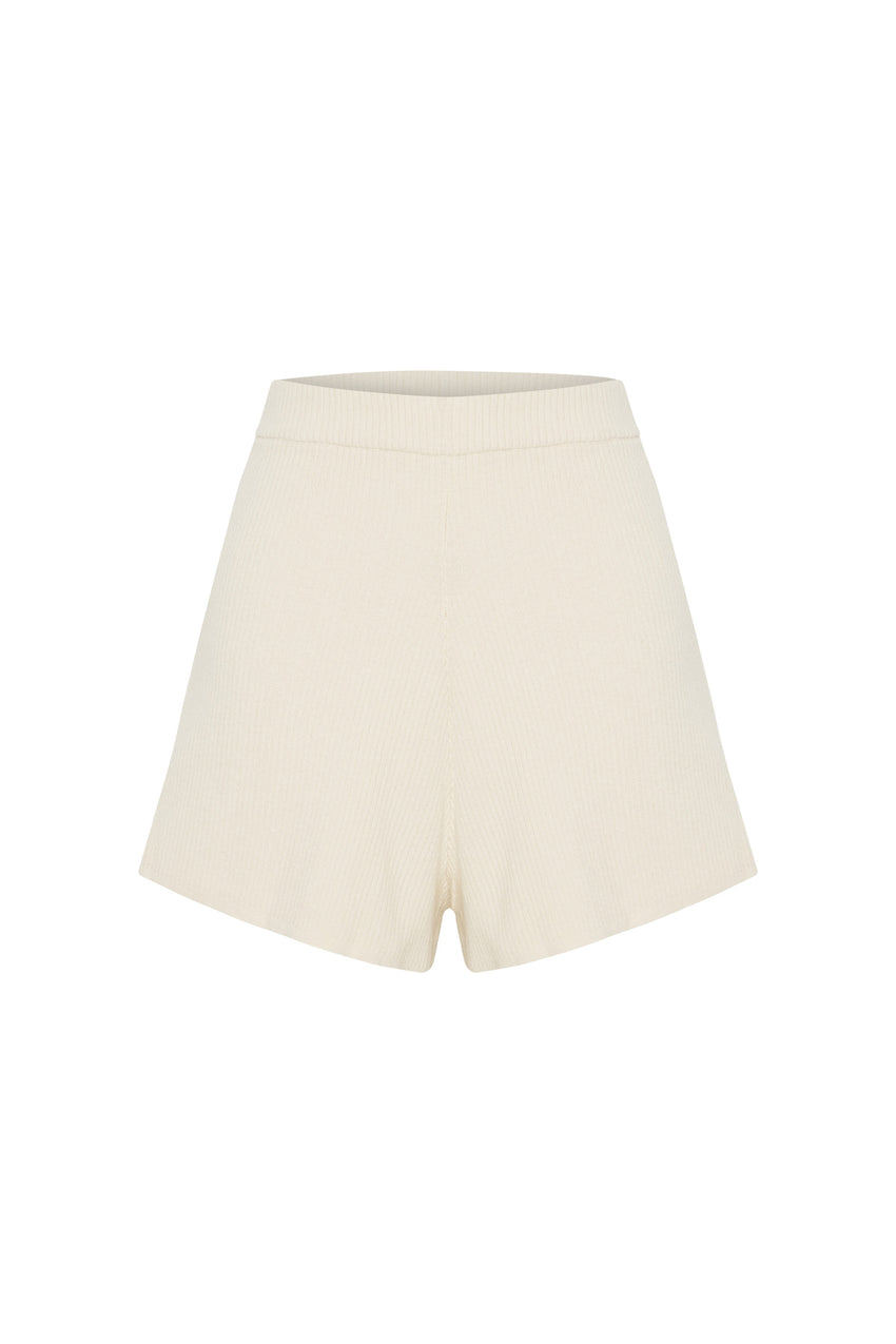 Signature Rib Knit Short - Warm White