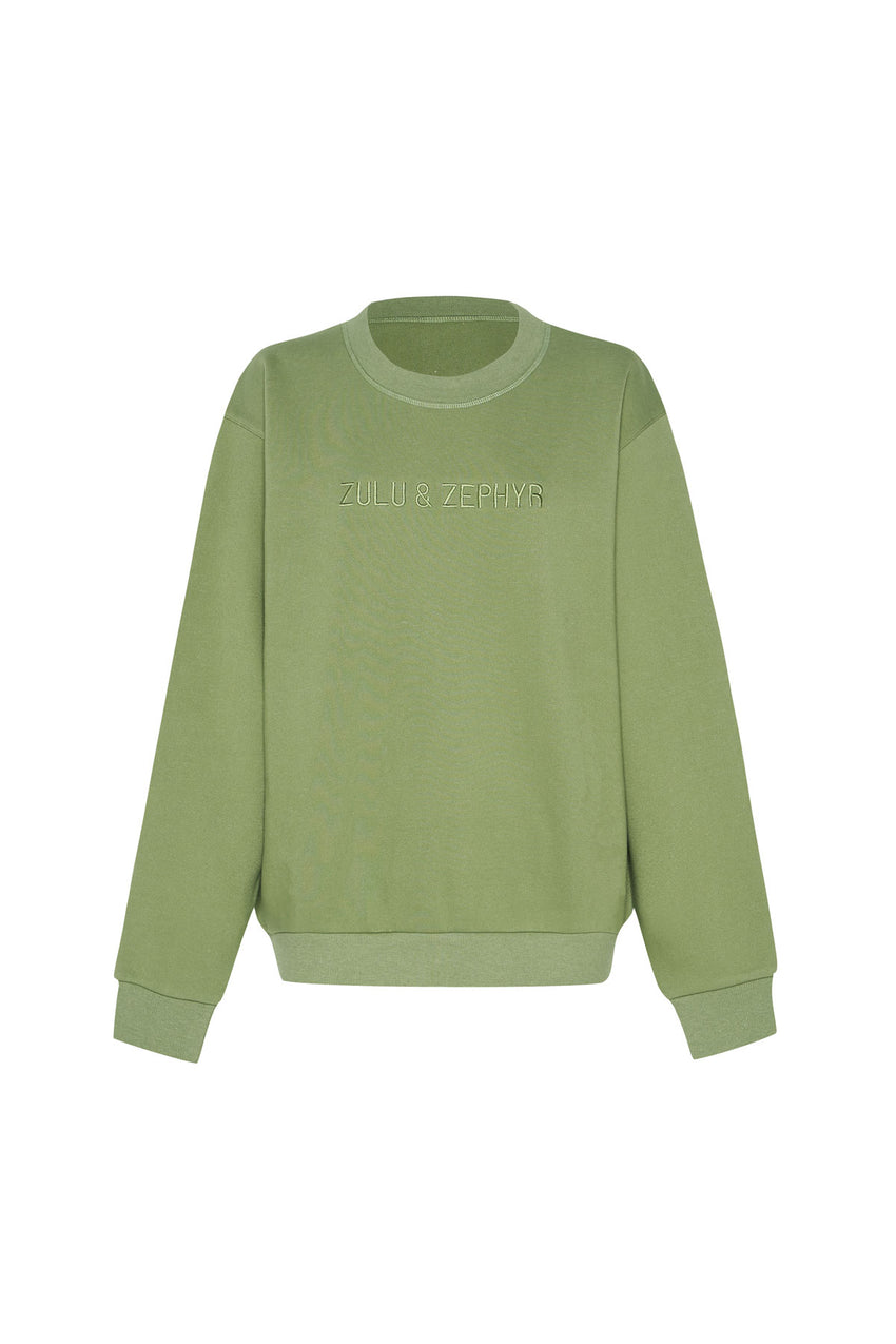 Classic Fleece Jumper - Tallow Green
