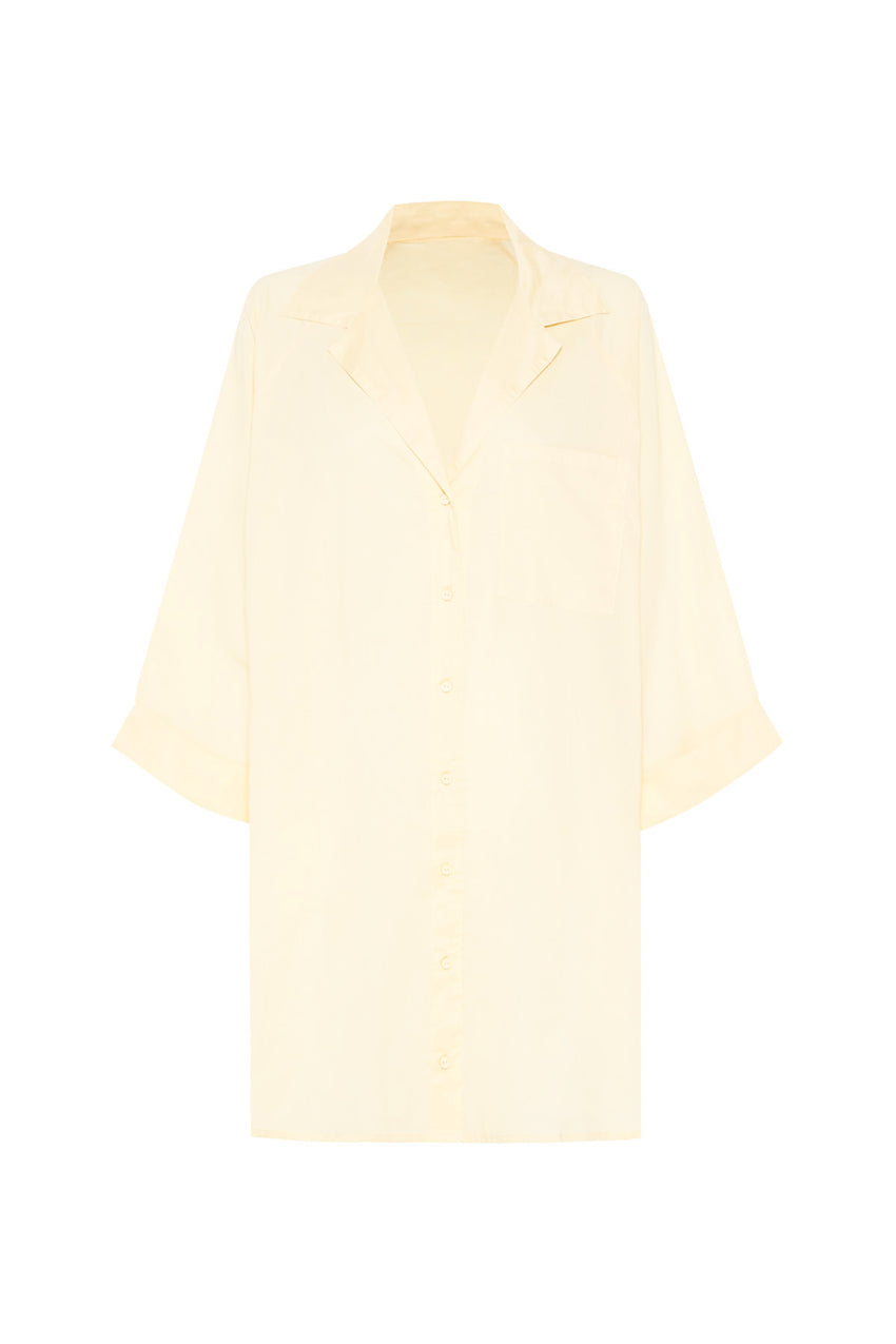 Classic Cover Up Shirt - Cream