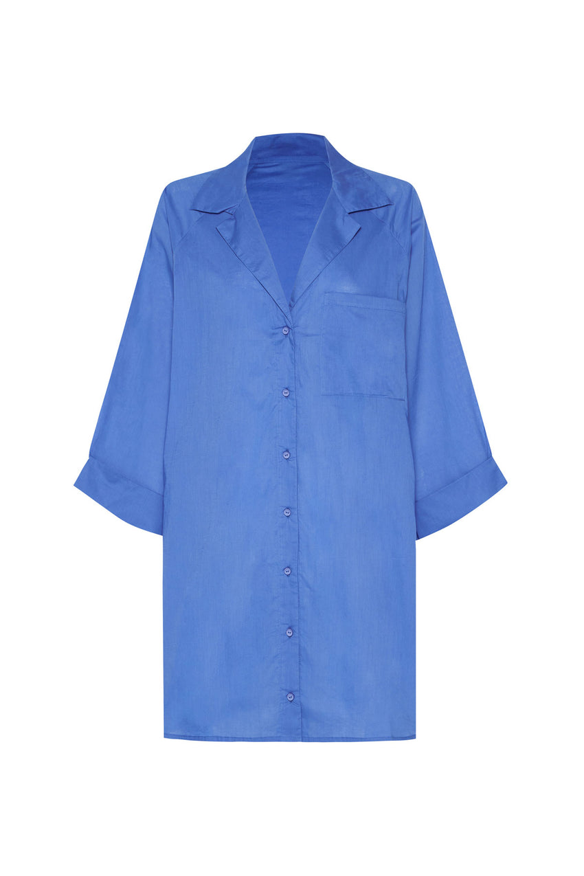 Classic Cover Up Shirt - Sea Blue