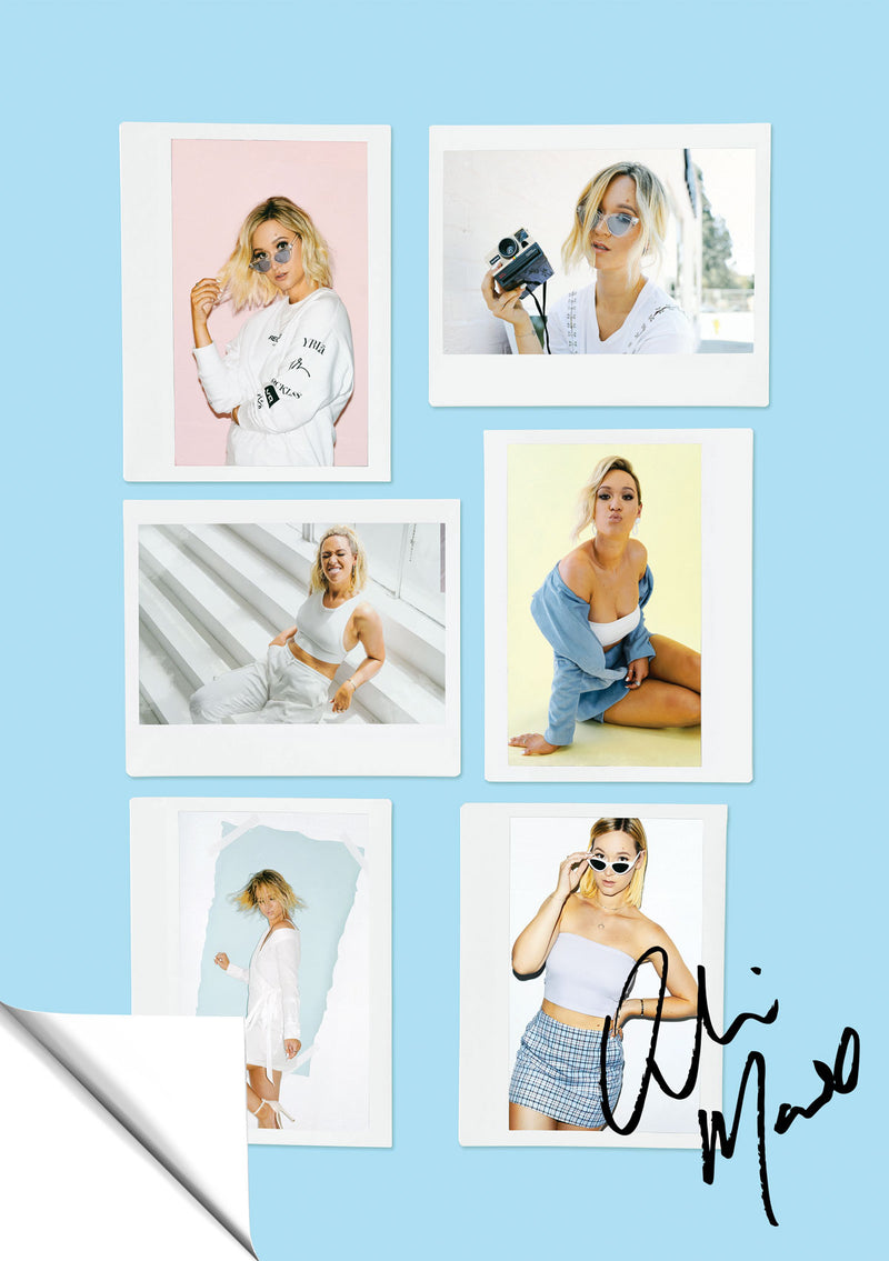 ALISHA MARIE PHOTO COLLAGE SIGNED POSTER