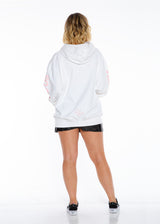 SO EXTRA OVER SIZED PULLOVER HOODIE WHITE