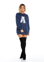 VARSITY OVERSIZED CREWNECK FLEECE