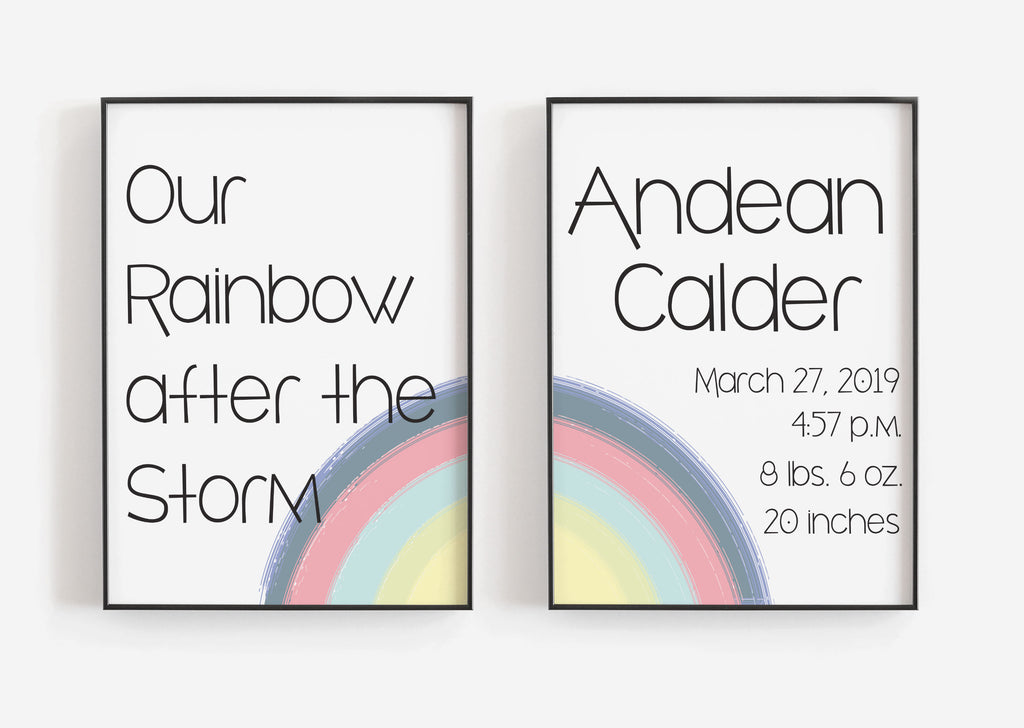 Rainbow After the Storm - Dual print