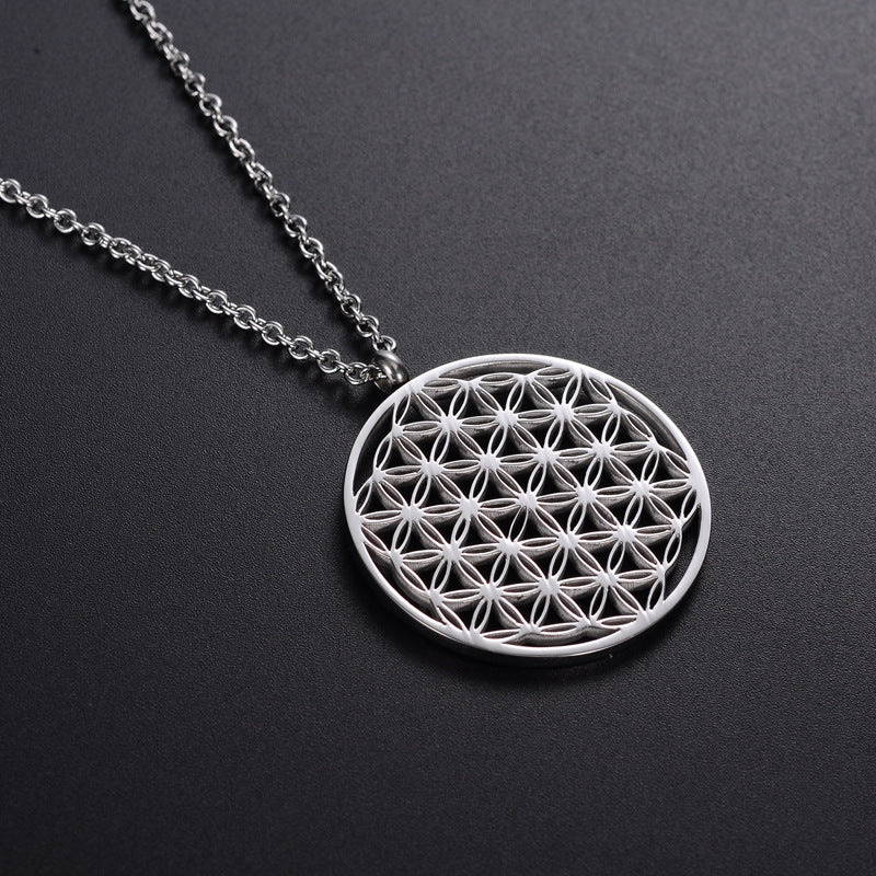 Stainless Steel Flower of Life Necklace