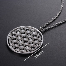 Load image into Gallery viewer, Stainless Steel Flower of Life Necklace