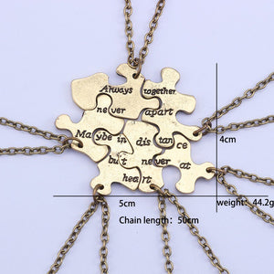 Bronze Distance Puzzle Necklace Set