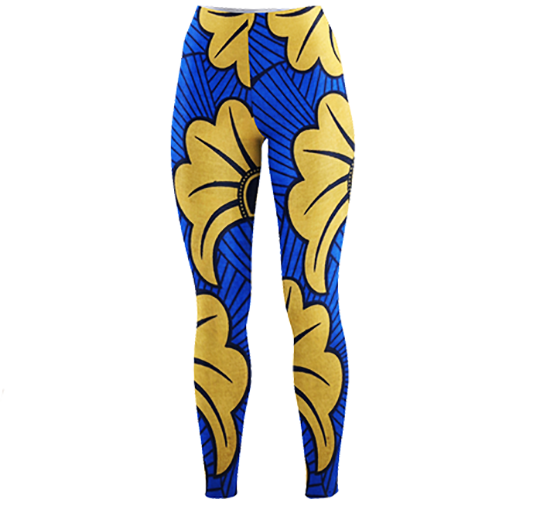 Blue Ankara  Leggings