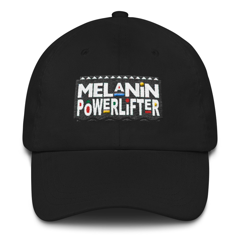 Melanin Powerlifter Dad Cap