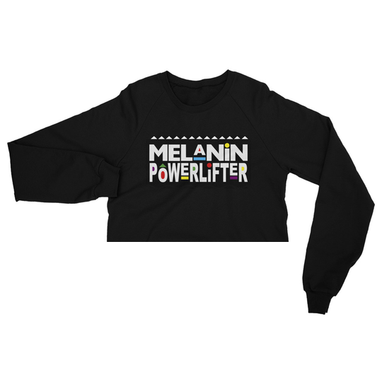 Melanin Powerlifter Crop Sweater