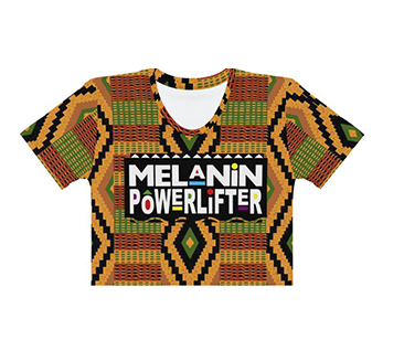 Kente Melanin Powerlifter Crop