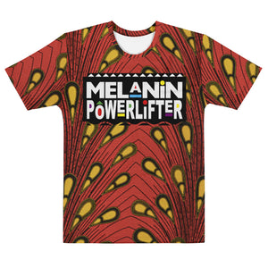 Red Ankara Melanin Powerlifter T-Shirt