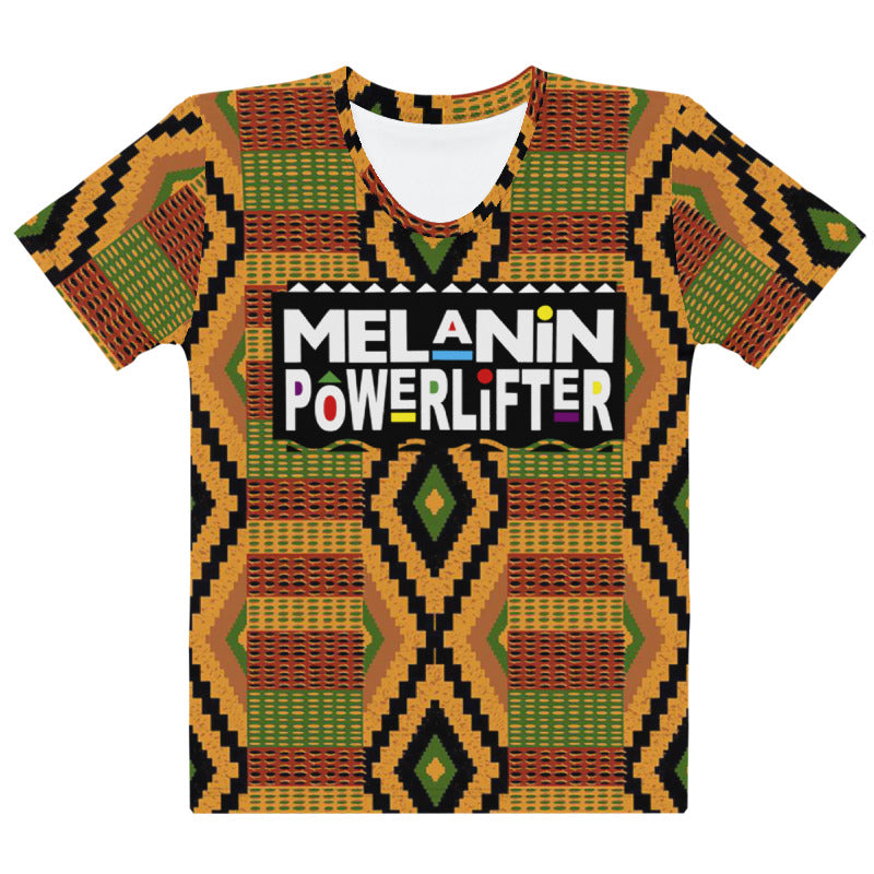 Kente Melanin Powerlifter T-Shirt