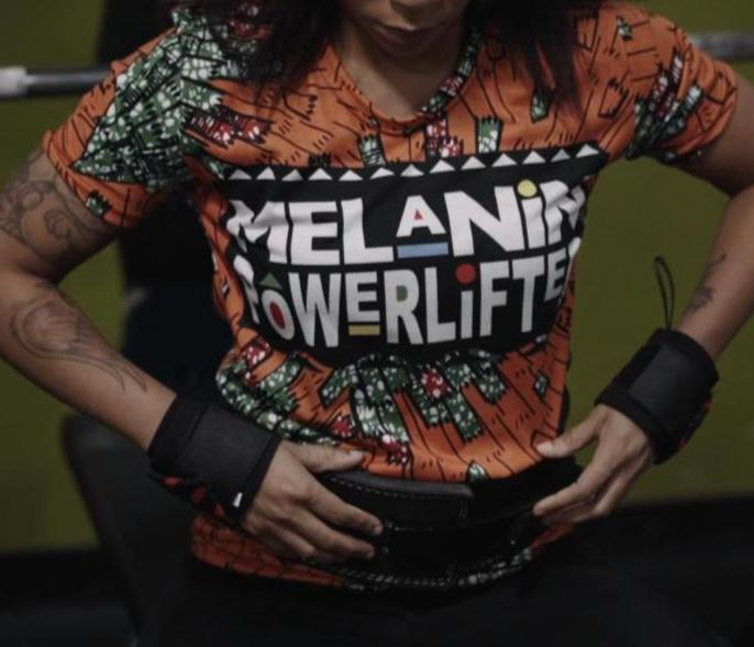 Orange Melanin Powerlifter T-Shirt