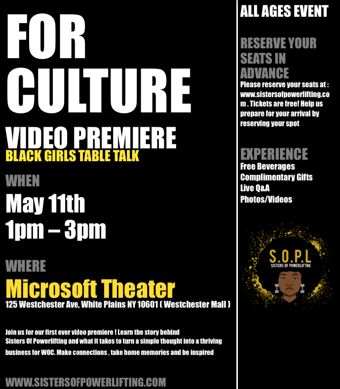 For Our Culture Video Premiere