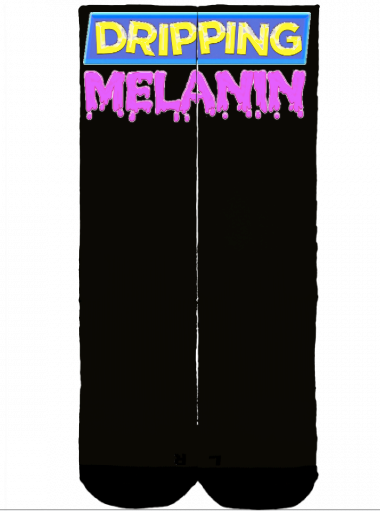 Melanin Dripping Deadlift Socks