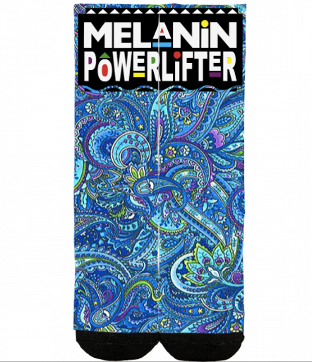 Paisley deadlift socks