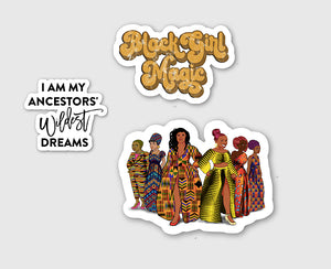 Melanin Elegance Sticker Pack