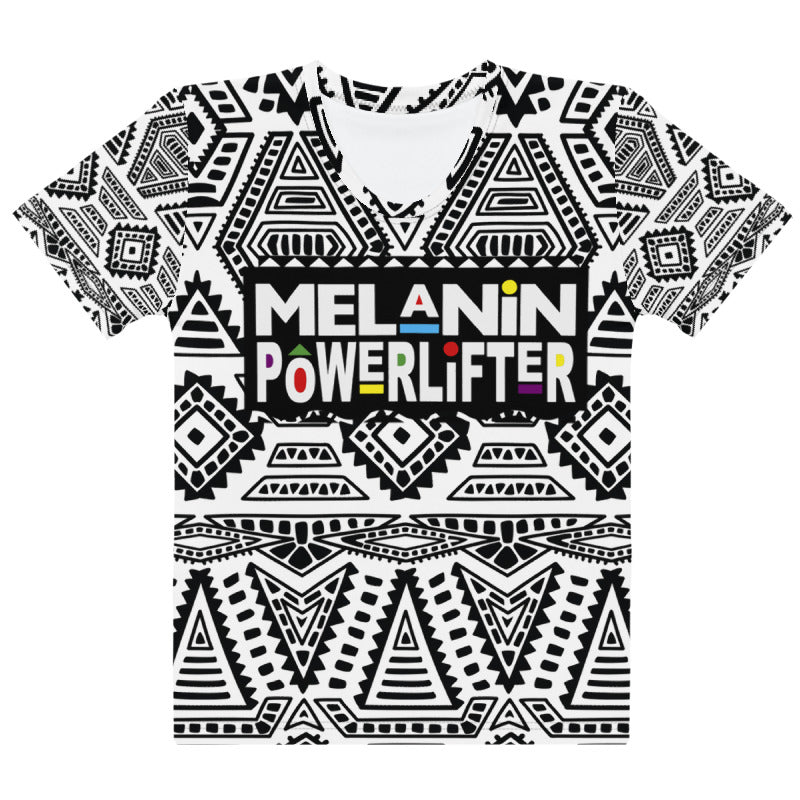 Tribal Melanin Powerlifter T-Shirt