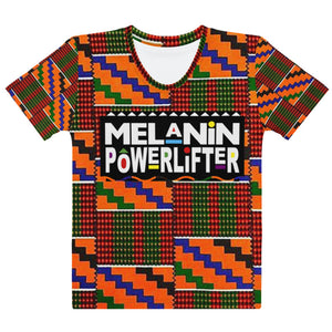 Red Kente Melanin Powerlifter T-Shirt