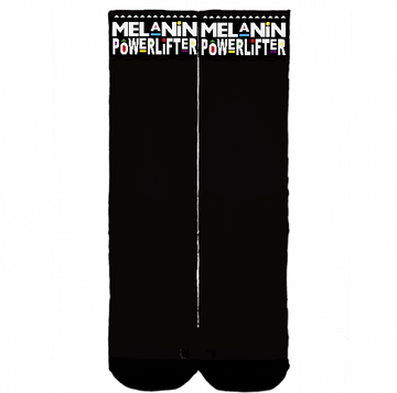 Melanin Powerlifter deadlift socks